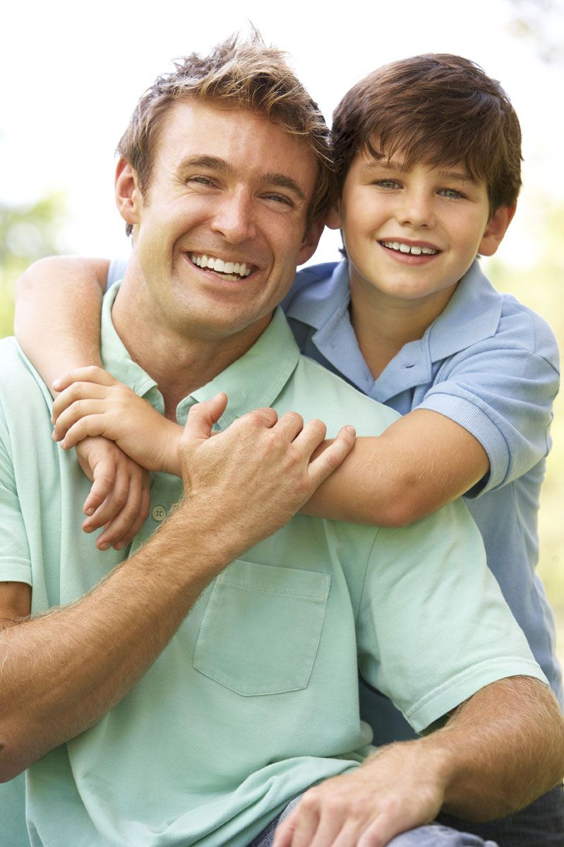 trenton dentist office policies - Father and son