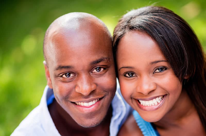 Brampton dentist - Couple Smiling